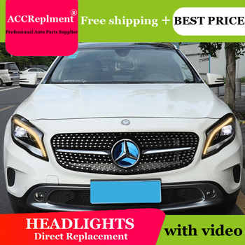 Car Styling for Benz GLA Headlights 2015-2019 LED Headlight Lens Double Beam H7 HID Xenon bi xenon lens daytime running light - DISCOUNT ITEM  17% OFF All Category