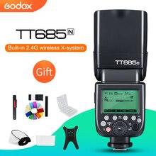 Godox TT685N 2.4 جرام الأحرار 1/8000 ثانية i TTL GN60 اللاسلكية فلاش Speedlite لنيكون D800 d700 D7100 D7000 D5200 D5000 D810 + هدية