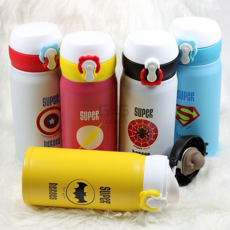 350 ml bonito garrafa de vácuo de aço inoxidável para crianças meninas homens garrafa de água dos desenhos animados garrafa térmica caneca térmica