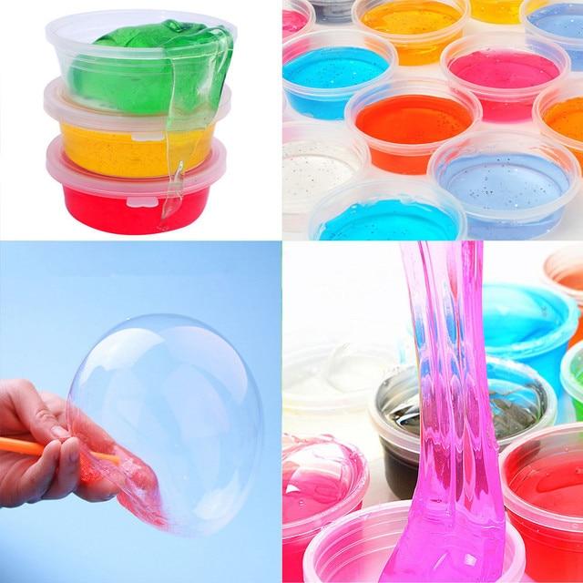 24 Цвет/комплект глинистые шламы DIY Нетоксическо Crystal грязи играть прозрачный волшебный Пластилин Kid игрушки для детей L0912
