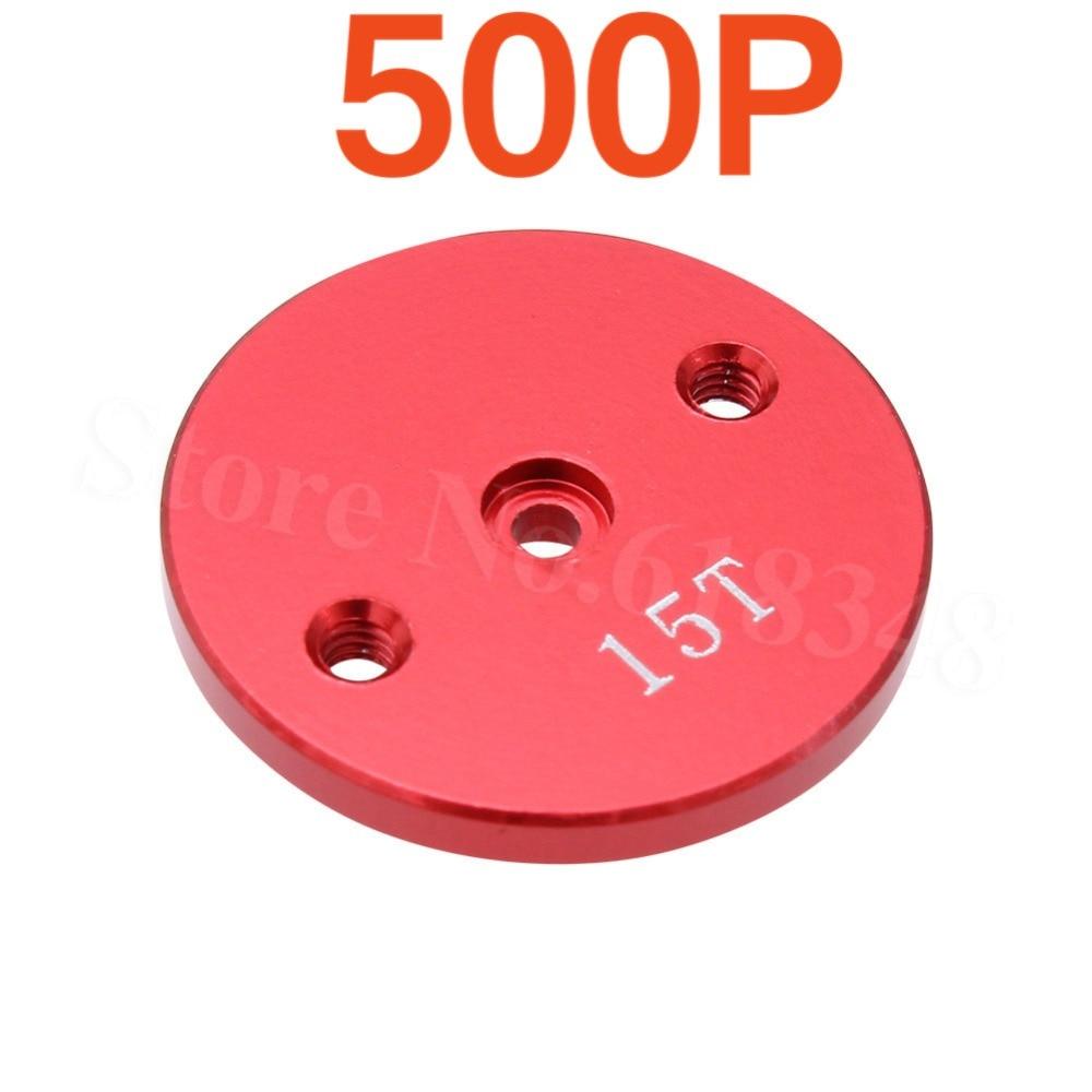 500 pièces alliage aluminium Servo bras corne 15 T dents métal rond disque Type pour Hitec HS-55 moteur RC Robot voiture avion