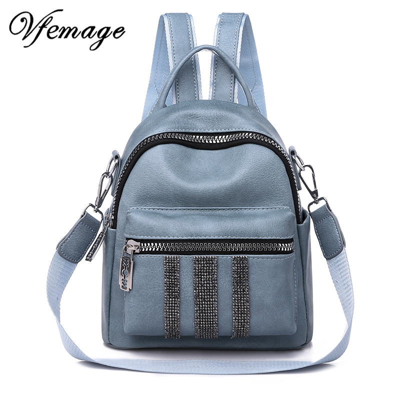 Vfemage New Leather Backpack Women Shoulder Bag Female Small Backpacks Fashion Schoolbags for Girls Mutifuntion Backpacks SacVfemage New Leather Backpack Women Shoulder Bag Female Small Backpacks Fashion Schoolbags for Girls Mutifuntion Backpacks Sac