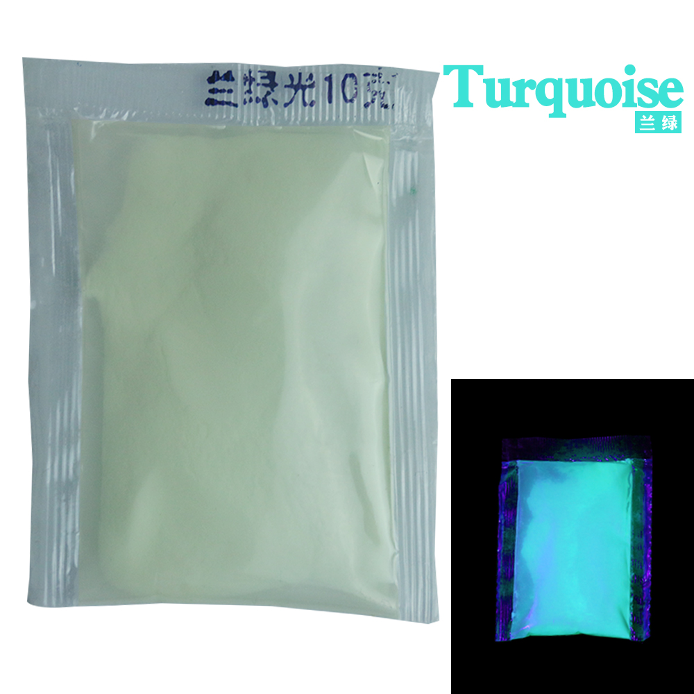 10g Per Pack Turquoise Color Luminous Paint Noctilucent Powder Fluorescence DIY Party Creative Glow In Dark Decorations For Home