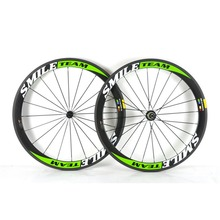 SmileTeam 700C 38mm 50mm 60mm 88mm Carbon Clincher Tubular Road Bike Bicycle Wheels Super Light Carbon Wheels Racing Wheelset