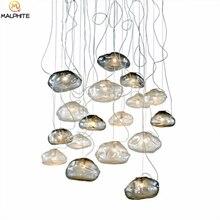 Nordic Led Pendant Lights Modern Bar Restaurant Glass Cloud LED Lamps Hotel Lobby Industrial Decor Lighting Fixturs