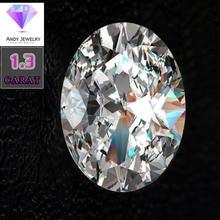 6*8mm Oval Cut 1.3 carat White Moissanite Stone Loose Moissanite Diamond for Wedding Ring oval stone ring