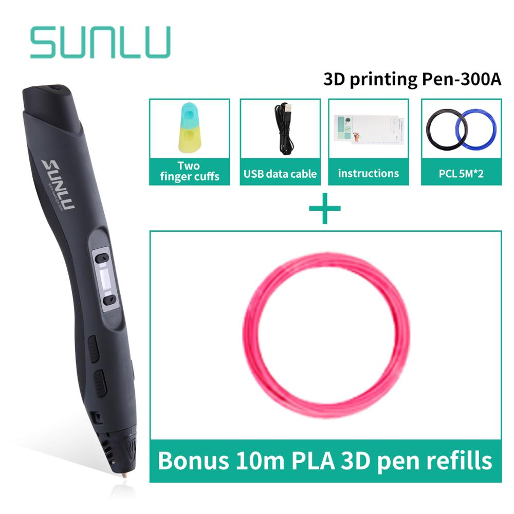3D Drawing Pen For Children Scribble 1 To 8 Digital Exturded Grades On Seep Control SUNLU SL-300A 3D Printing Pens Gift Box