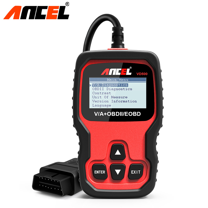 Ancel VD500 OBD2 Car Automotive Scanner Engine ABS Airbag Fault Code Reader Oil Service EPB Reset Diagnostic Tool for Audi VW u280 1 5 lcd vw audi car diagnostic code reader memo scanner