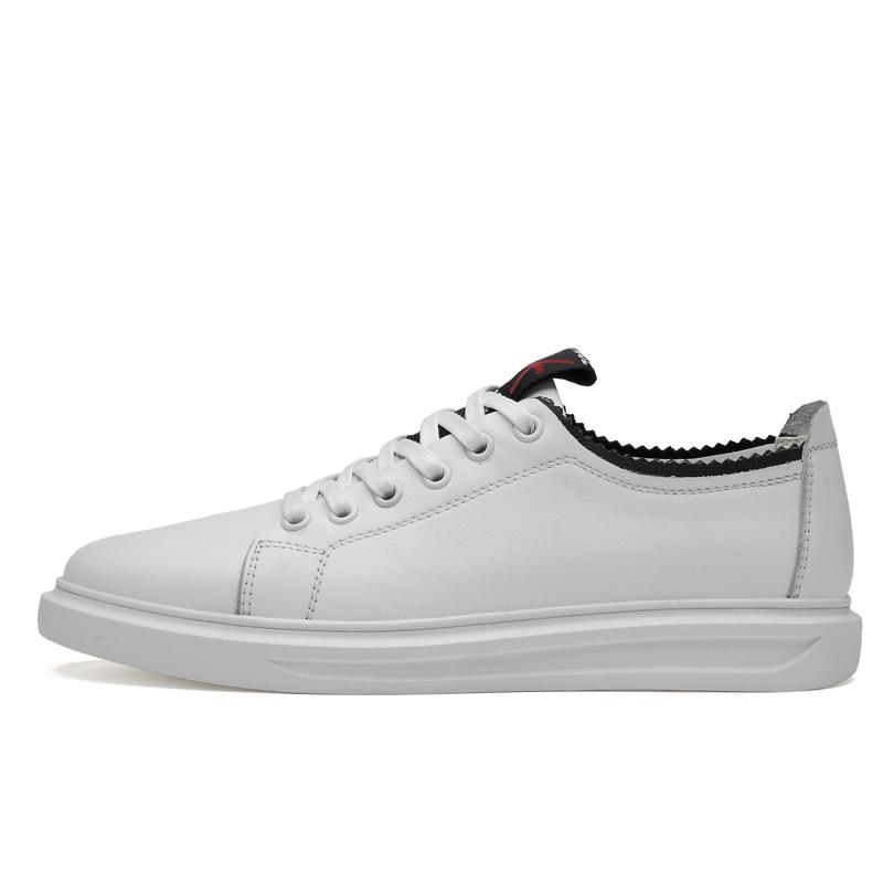 Mocassins Dos Macio Flats De Das Homens Ocasional Sapatas Genuíno Preto Ramialali Couro Novas Sapatos Reais branco Sapatilhas B47EPP