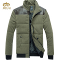 Patchwork Plus Size 3XL Size Black Army Navy Khaki Winter Jacket Men Parka Duck Down Coat Men's  Brand-clothing