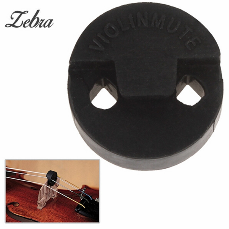 Zebra New Arrival Black Round Acoustic Rubber Practice Mute Volume Control For 3/4 4/4 Violin Stringed Instruments Violin Parts