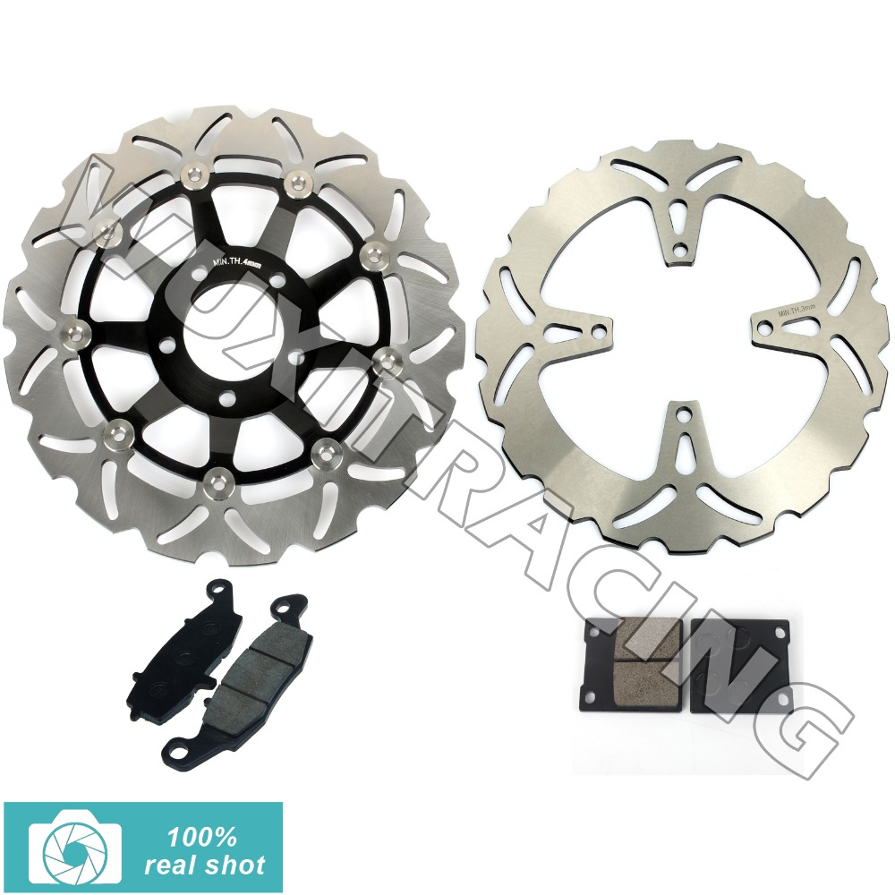 New Front Brake Discs Rotors Pads for GS 500 E 96 97 98 99 00 01 02 03 K1 K2 K3 T V W X Y GS 500 F 04 05 06 07 08 K4 K5 K6 K7 K8 kawasaki zx 9r 96 97 98 99 00 metal brake pads front brake pads free shipping
