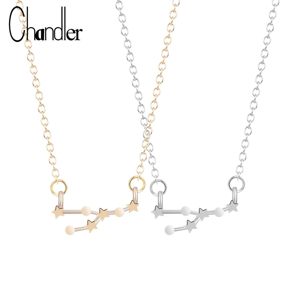 Chandler Taurus Zodiac Sign Astrology Necklace Constellation April and May Birthday Gift Handmade Link Chain Love Fahsion Luxury