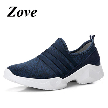 ZOVE Women Flats Sneakers Shoes 2019 Summer Fashion Slip On Loafers Breathable Knit Mesh Walk Flat Shoes Ladies Shoes chaussure 1