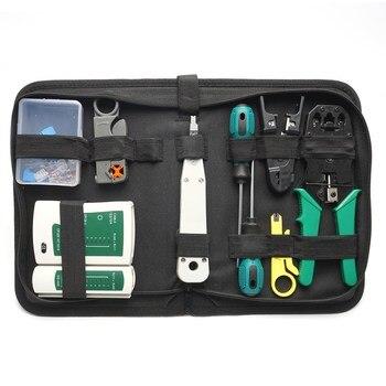 14 pcs/set lan tester RJ45 Crimping pliers Portable LAN Network Repair Tool Kit Cable Tester AND Plier Crimp Crimper Clamp 1
