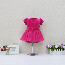 Newborn Net yarn Dress Cotton+Velour Elegant Girls Dresses Kids Zipper Clothes 6M to 18M Children Lace Bowknot Clothing