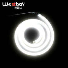 Westbay blanc LED néon 240V en rond 360 éclairage néon LED bandes lumineuses 100 LEDs par mètre 10 M/lot Dia 18.5mm lampe LED(China)