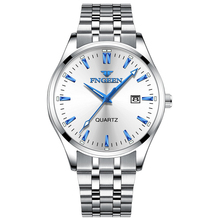 FNGEEN часы мужские Модные Роскошные наручные часы Стальные водонепроницаемые мужские часы Дата Saat простые часы Erkek Kol Saati мужские часы