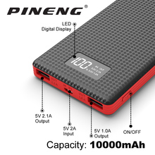 Pineng PN-963 Original New 10000mAh Portable Battery Mobile Power Bank USB Charger Li-Polymer with LED Indicator For Smartphone