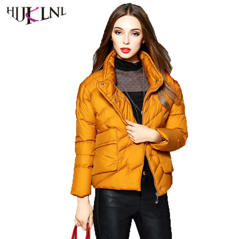 4e621eaba 2018 New Women's Winter Fashion Down Jacket Ladies Slim Thick Short ...