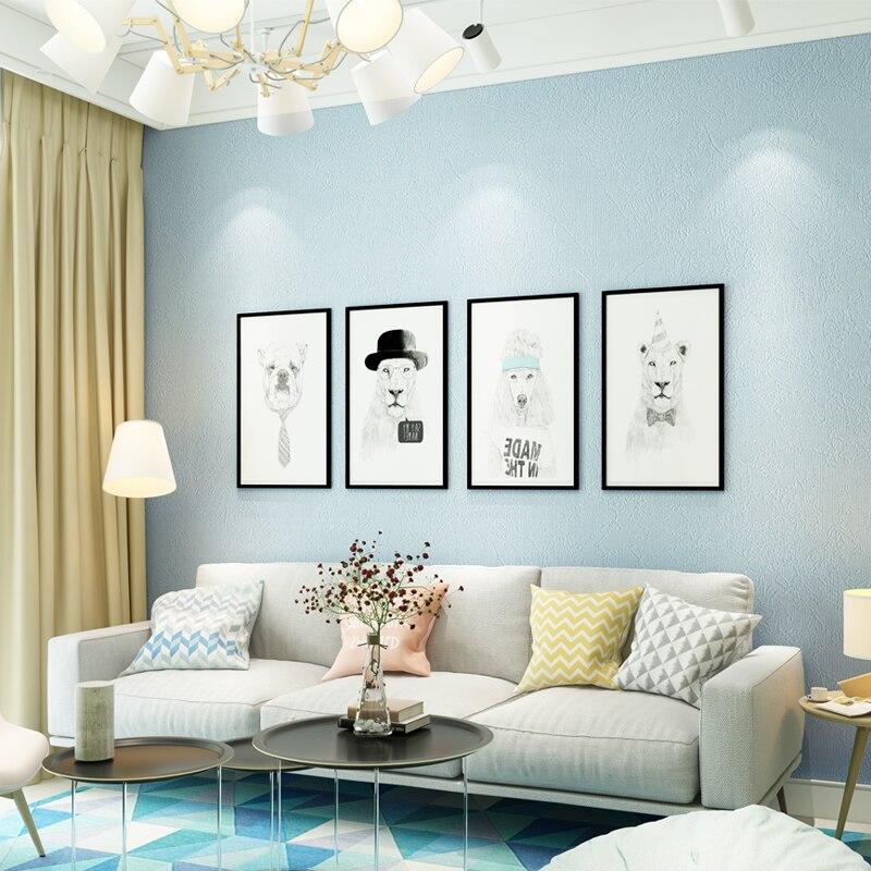 moderne nordic behang interieur solid kleur grijs blauw vinyl behang roll voor woonkamer slaapkamer muren contact papier in moderne nordic behang interieur