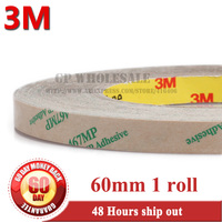 1 Roll 0.06mm Thickness, 6cm, 60mm*55 meters Ultra Thin 3M 467MP 200MP Double Sided Tape Sticky, Mobile phone Repair Material