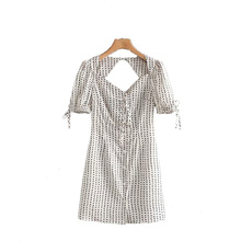 Summer V-Neck Sexy Dress Women Dot Open Back Dress Club Party Short Sleeve Female Clothing Slim Mini Dresses with Lace plus crisscross v back glitter dot dress