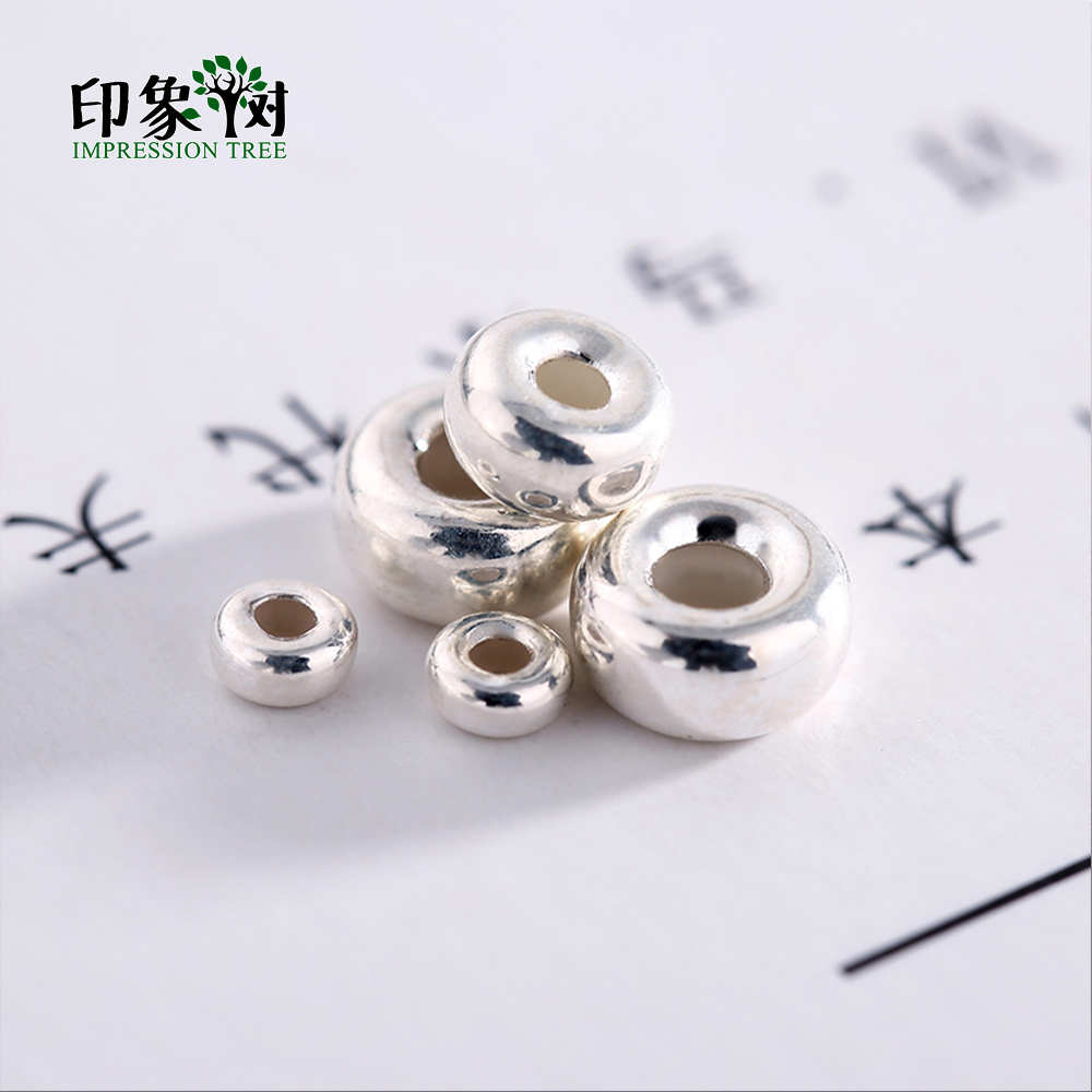 10Pcs 3x2/5x3/6x3mm Big Hole 925 Silver Sterling Spacer Bead Necklace Bracelet Connecter DIY Jewelry Making 92505