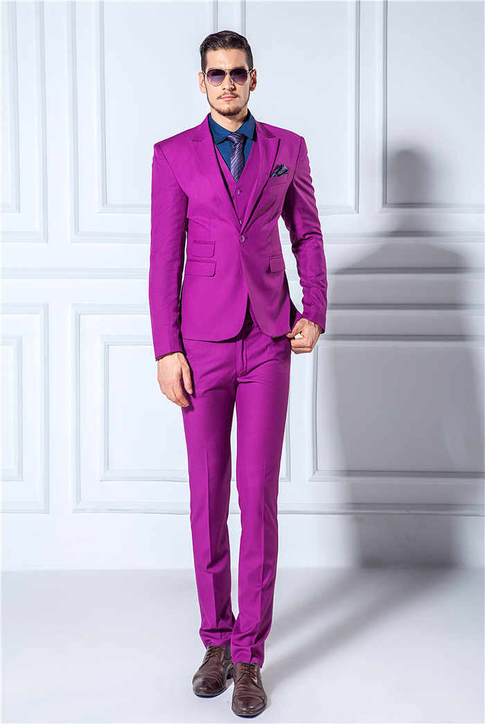 db519aeef022 ... New Groom wine red pink white Tuxedos latest coat pant designs Mens  Prom Suits Wedding men ...