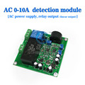 free shipping, current sensor to detect the full range of linear adjustable relay output AC 0-10A AC power supply