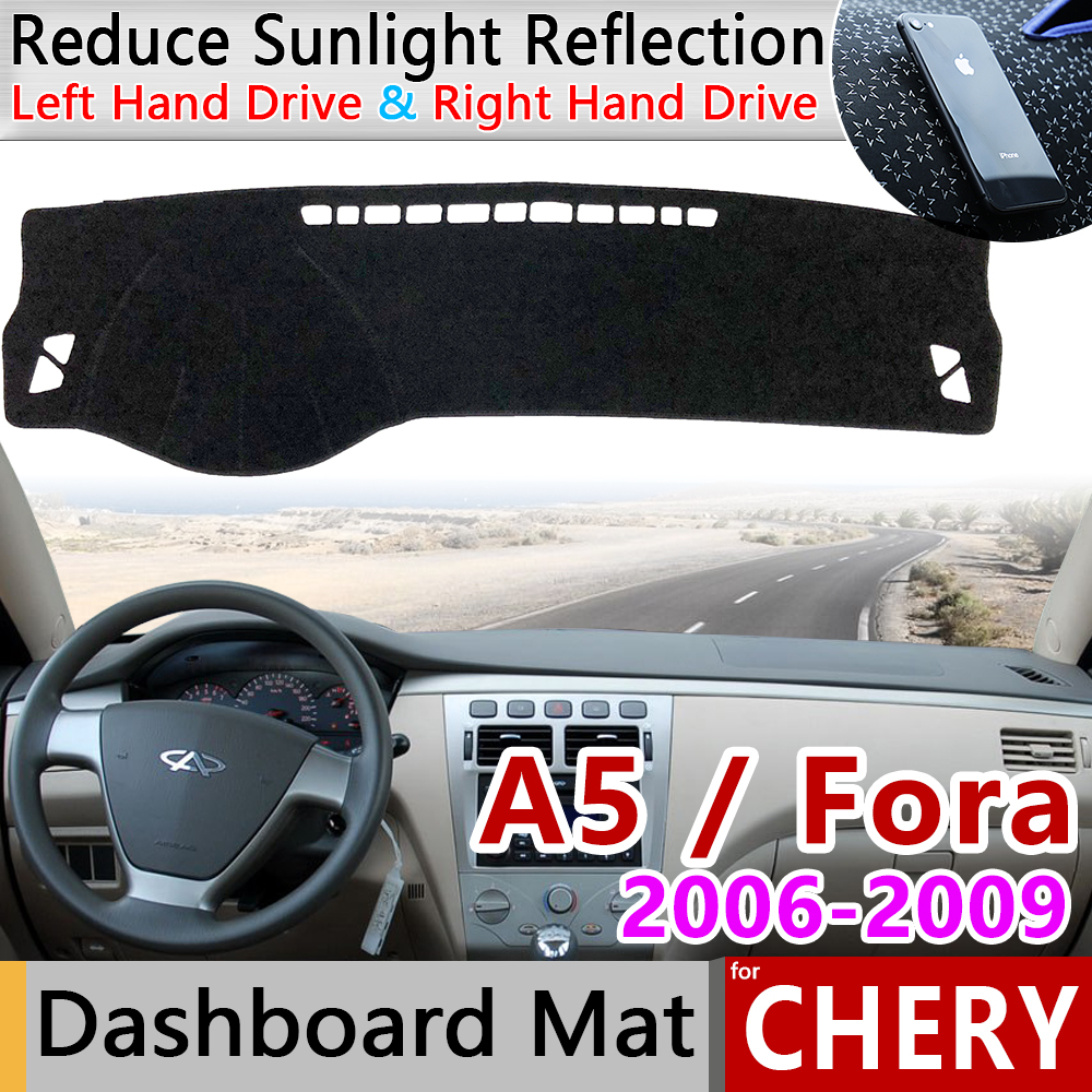 For Chery A5 Fora Alia Elara MVM 520 530 Vortex Estina Anti-Slip Mat Dashboard Cover Pad Sunshade Dashmat Carpet Car Accessories