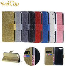 Bling Glitter Phone Cases For Huawei Y3 2017 CRO-L22 PU Leather Covers Capas For HUAWEI Y3 (2017) CRO-L02 Book Flip Mobile Coque