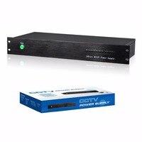 Стоечные питания 18 канал блок питания выходных данных DC12V 20A для видеонаблюдения видео камер
