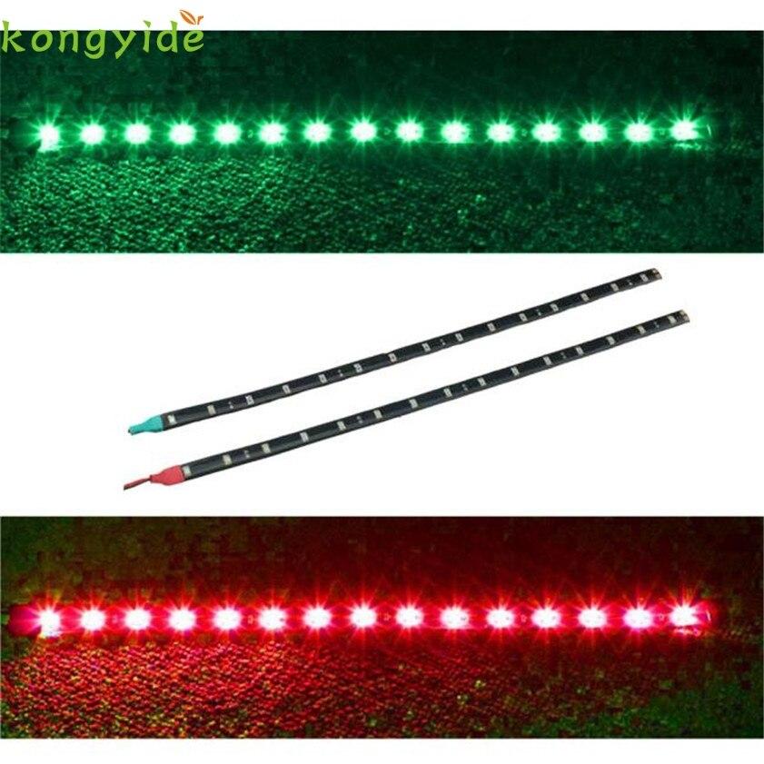 New 2x Boat Navigation LED Lighting RED & GREEN Waterproof Marine LED Strips car accessories лампочка marine lighting 3w 5w 9w2u