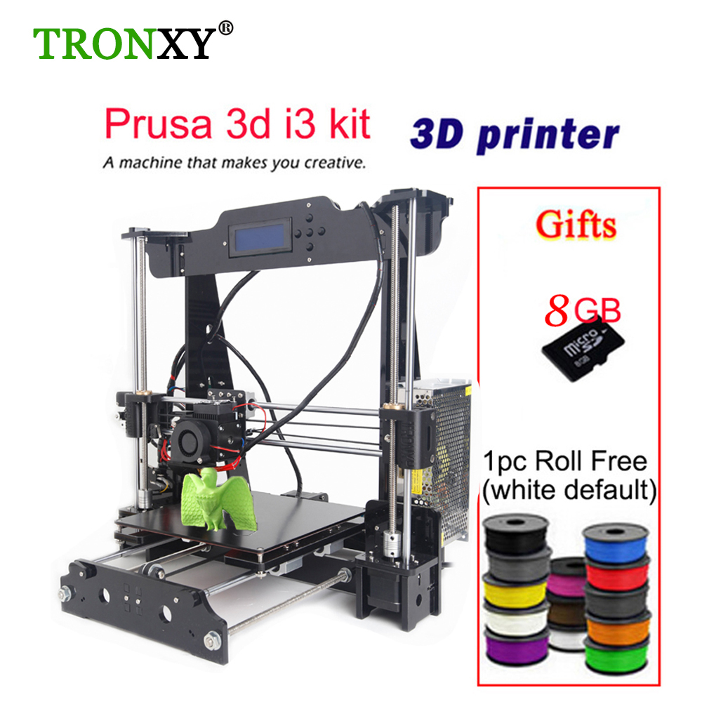 Auto Level & Normal A8 Reprap Prusa I3 DIY 3D Printer Kit High-precision Three-dimensional 3D Printing LCD Screen 8GB SD Card easy assemble anet a2 3d printer kit high precision reprap prusa i3 diy 3d printing machine hotbed filament sd card lcd