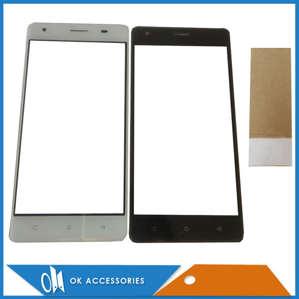 5.0 Inch Gold Black White Color For JUST5 Freedom M303 Touch Screen Digitizer Glass Panel Outer Glass With Tape(China)