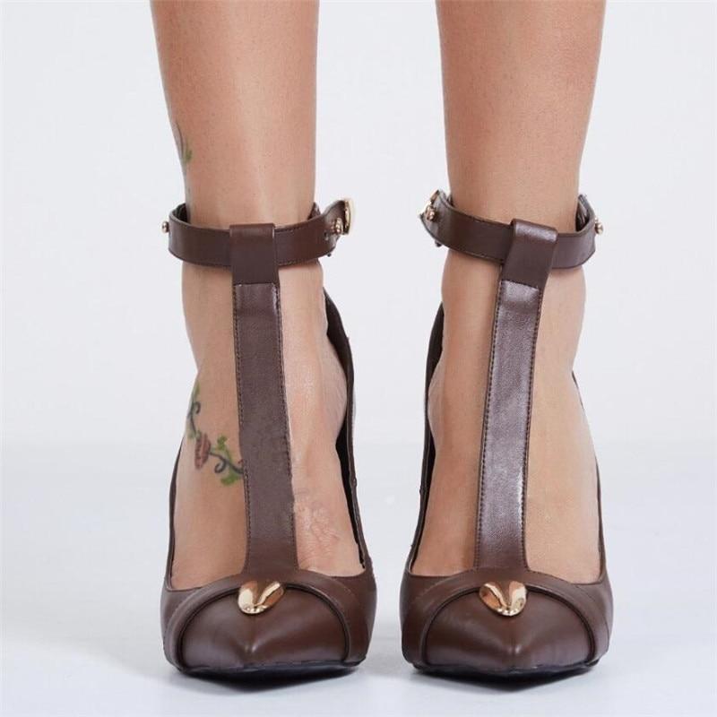 Décor Cheville As Habillées Piste Sexy Boucle Pic T Pointu Métal Femmes Chaussures Pompes Stiletto 2019 Pic Sangle Talons Bout strap as Hauts Lady n7WxAwUOA