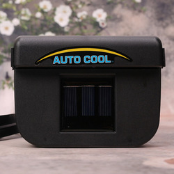 Solar Powered Auto Car Window Air Vent Cool Ventilation Fan Air Conditioner Radiator with Rubber Strip