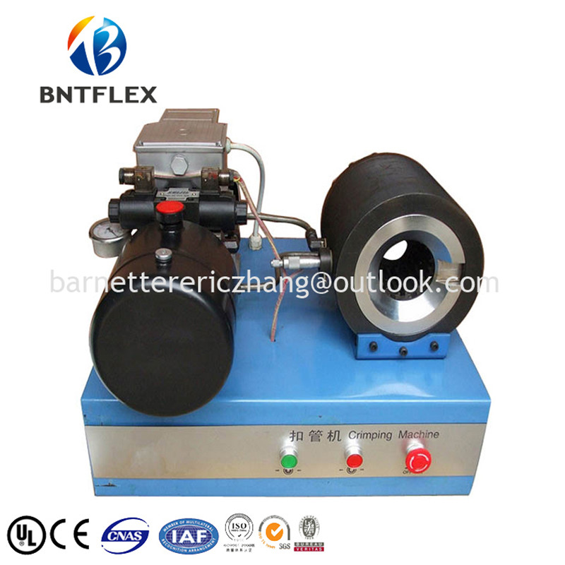 BNT 12v/24v rubber hydraulic hose fitting crimping machine