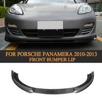 Carbon Fiber Front Lip Auto Racing Auto Styling Frontschürze Diffusor Spoiler für Porsche Panamera 2010 2013|Stoßstangen|Kraftfahrzeuge und Motorräder -