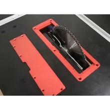 Электрическая циркулярная пила откидная крышка пластина флип-Пол стол специальная крышка пластина регулируемая алюминиевая вставка пластина для настольной пилы