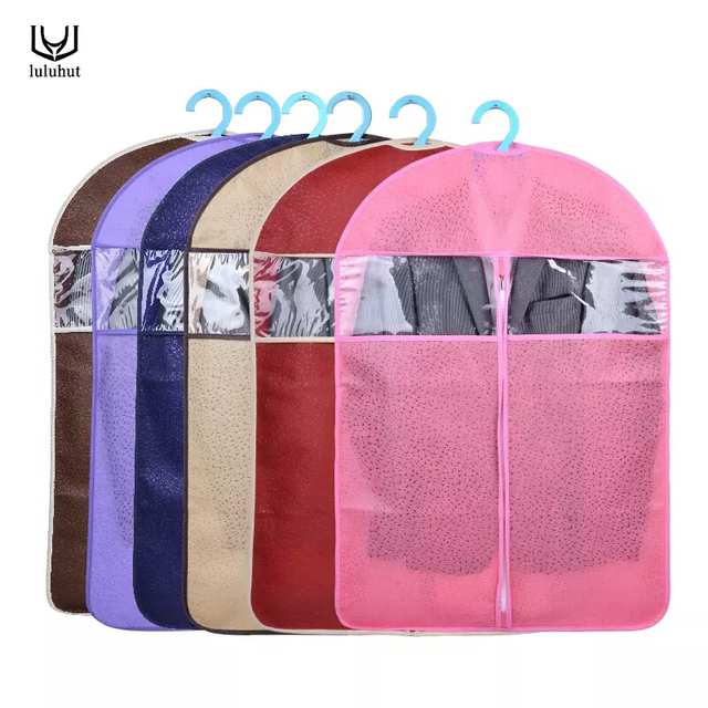 Luluhut Non Woven Dust Cover Clothes Storage Dress Coats Bag Protector Covers For