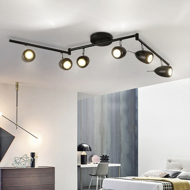 Lovely Modern Retro Track Lights Living Room Led Light Industrial Creative Bar  Clothing Stores Personalized LED Track