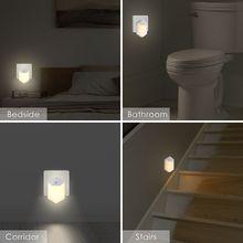 Теплый светодиодный ночник, декор для комнаты, датчик освещения, настенная розетка, лампа для дома, украшения для спальни