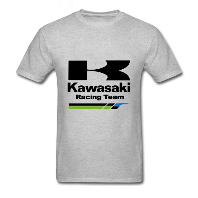 Kawasaki racing team   T     Shirt   Youth Pop Kawasaki Ninja tshirt brand logo print   T  -  shirt   men top   Shirt   Summer Casual Fitness Tees