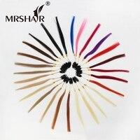 Mrshairカラーリングのremy毛色27色利用できる100%リアルレミー人間の髪黒茶色ブロンドレッドピンクパープルブルーブル