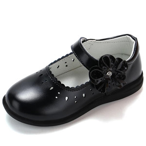 Autumn New Princess Girls Shoes For Kids School Leather Shoes For Student Black Dress Shoes For Girls 3 4 5 6 7 8 9 10 11 12-16T(China)