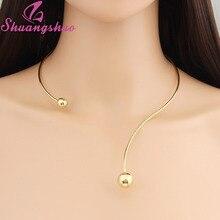 Shuangshuo новая мода простой крутящийся ошейник ожерелье для женщин Индивидуальный Женский Воротник Ожерелье s макси чокеры