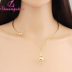 Shuangshuo 2020 New Fashion Simple Torques Collar necklace for women Personality Women