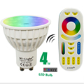 New Arrival Original Dimmable 2.4G Wireless Milight Led Bulb GU10 RGB+CCT Led Spotlight Smart Lamp Lighting AC86-265V+ Remote